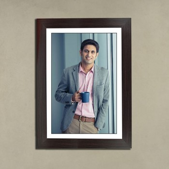 A4 Size Personalised Black Portrait Frame For Him