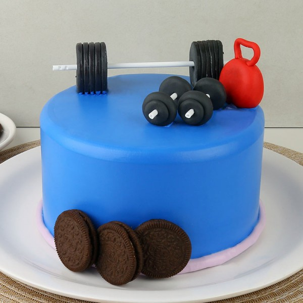 2 Kg Gym Theme Chocolate Fondant Cake