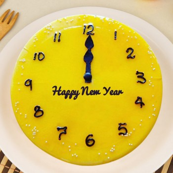 1 Kg Fondant Chocolate Cake for New Year