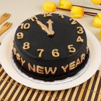 1 Kg Fondant Chocolate New Year Theme Cake