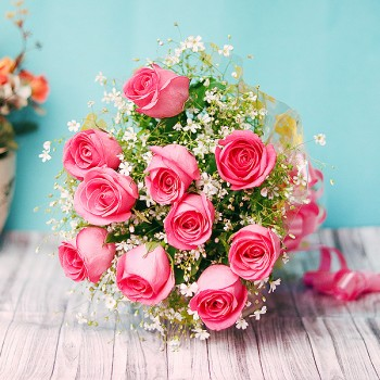 Pink Bloom Roses - Valentine Gifts For Girlfriend - Valentines Gifts For Her - Valentine Day Gifts For Her