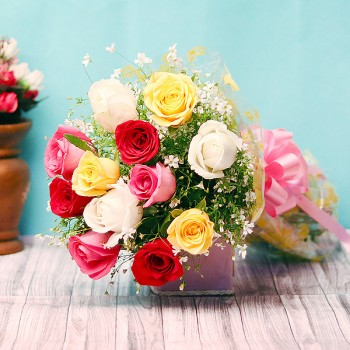 12 Assorted Roses - Valentine Gifts Online - Valentines Gifts For Her - Valentine Gifts For Him