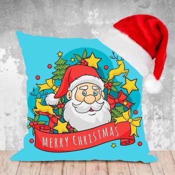 Christmas Combo of Cushion and Santa Cap
