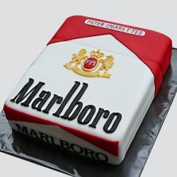 1.5 Kg Marlboro Theme Chocolate Fondant Cake