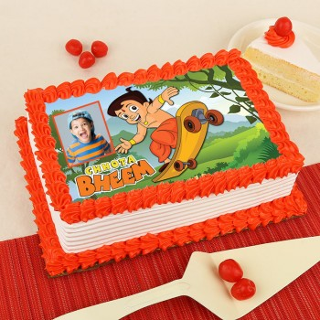 1 Kg Chota Behem Photo Pineapple Cake