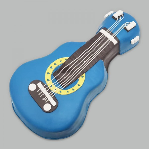 3 Kg Guitar Shape Designer Chocolate Cake