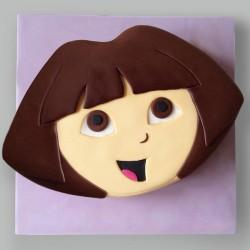 Dora Theme Cake