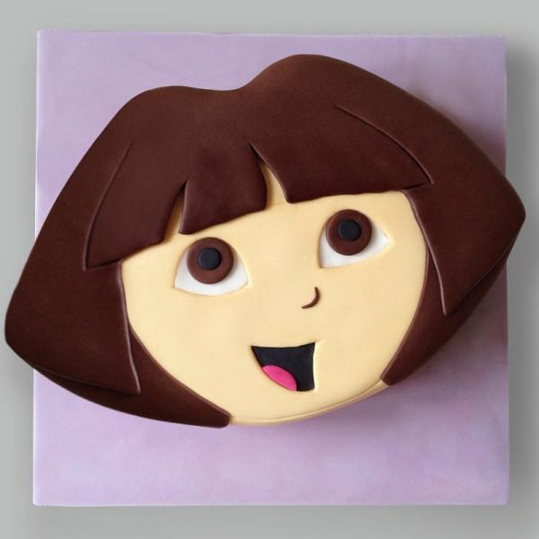 2 Kg Dora Theme Designer Chocolate Fondant Cake