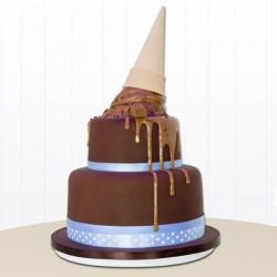 2 Tier 2 Kg Chocolate Cream Cake