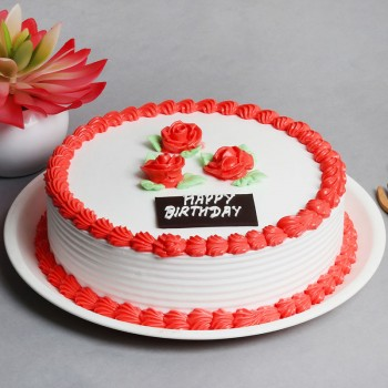 Half Kg Strawberry Cream Cake for Birthday