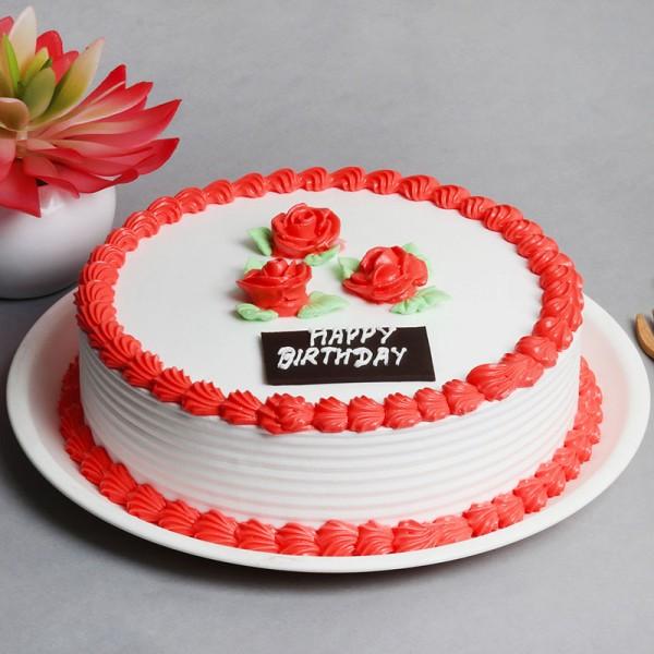 Half Kg Strawberry Cream Cake for Birthday