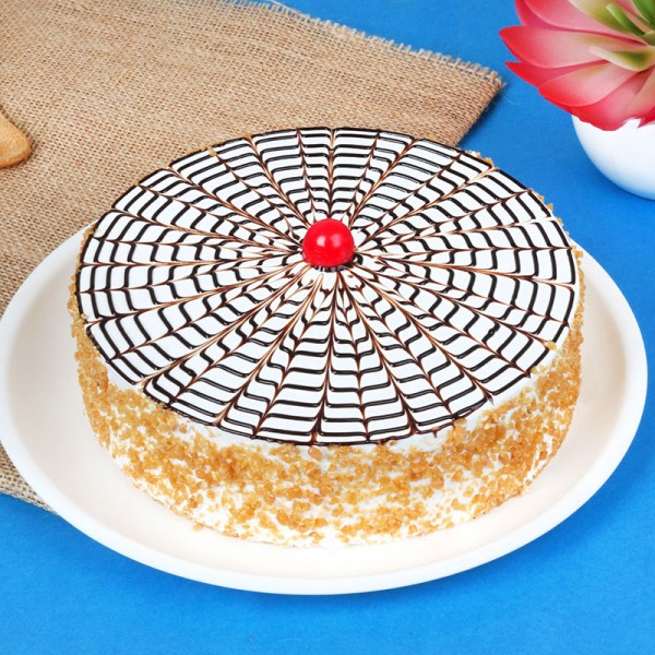 Half Kg Buterscotch Cream Cake