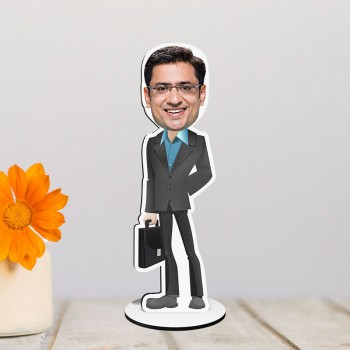Personalised Working Man Caricature