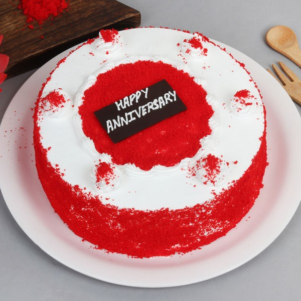 Half Kg Red Velvet Cake for Anniversary