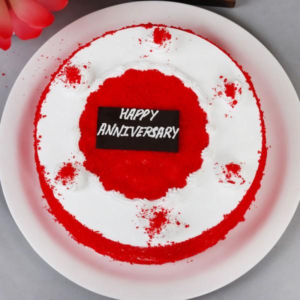 Half Kg Round Anniversary Cake