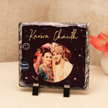 One Personalised Photo Stone for Karwa Chauth
