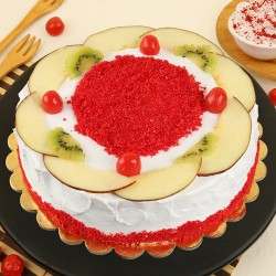 Red Velvet Fruit Punch Cake
