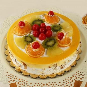 Half Mixed Fruit Pineapple Cake