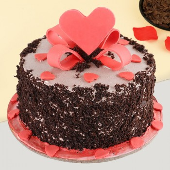 Heart Black Forest cake