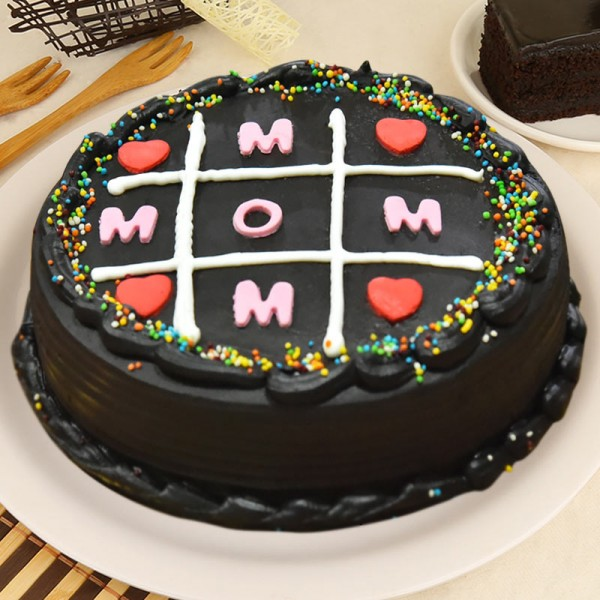 Half Kg Designer Chocolate Cake for Mom