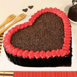 Ultimate Chocolate Heart Cake
