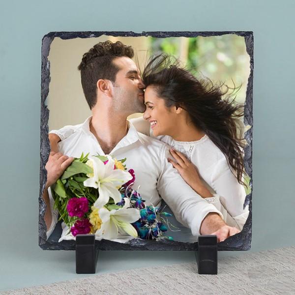 Square Shape Personalised Photo Stone