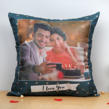 One Personalised Love Theme Cushion