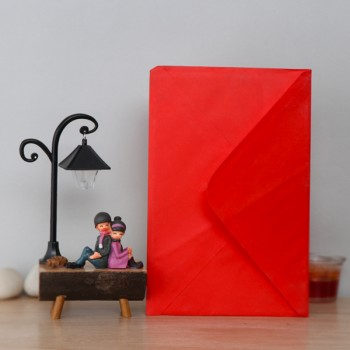Greeting Card with Sitting Couple Lamp
