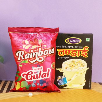 Pack of Thandai and Herbal Gulal for Holi