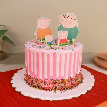 1 Kg Designer Peppa Pig Theme Vanilla Cake