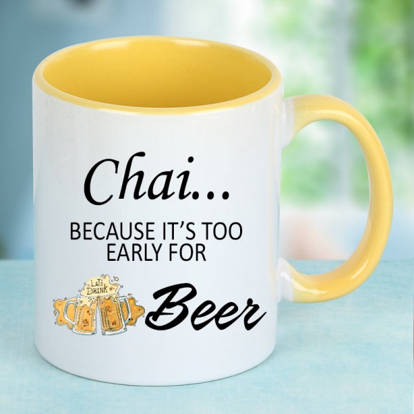 Chai Quote Printed Coffee Mug