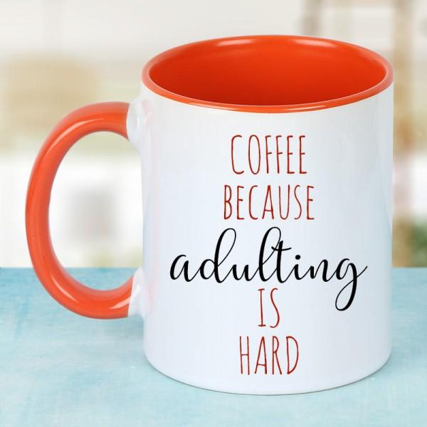 Coffee Mug with Printed Quote