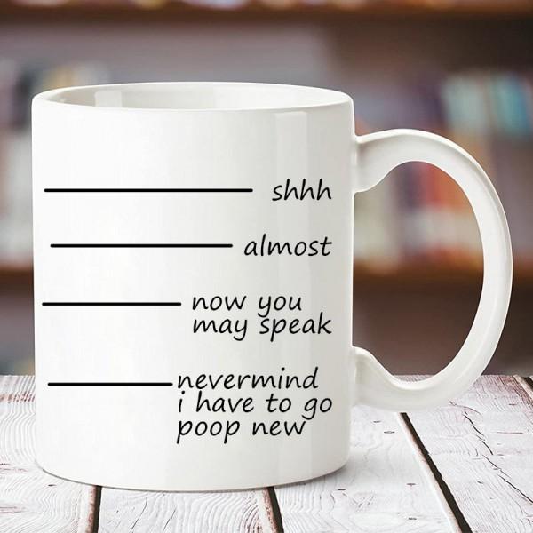 Funky Printed Quote Coffee Mug