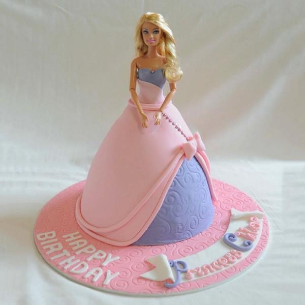 2 Kg Barbie Fondant Vanilla Cake for Birthday