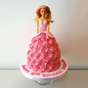 2 Kg Barbie Princess Vanilla Cream Cake