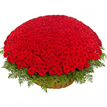 1000 Red Roses Basket Arrangement