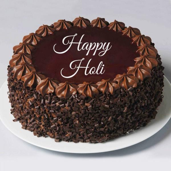 Half Kg Chocochip Chocolate Cake for Holi