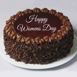 Womens Day Chipped Choco Cake