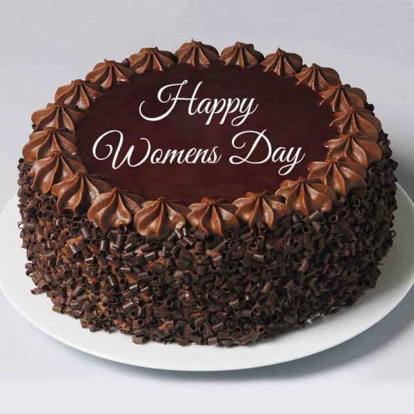 Half Kg Womens Day Chocolate Cream Cake