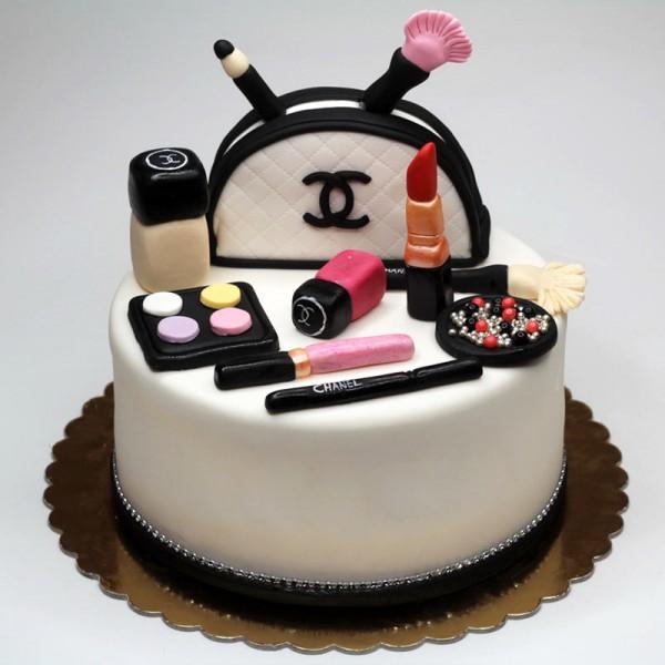 Chanel Nail Polish Cake: Special Chanel Cosmetics Cake- MyFlowerTree