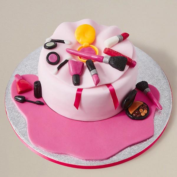 One Kg Designer Makeup Theme Chocolate Fondant Cake