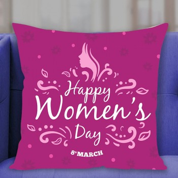 Happy Womens Day Printed Cushion
