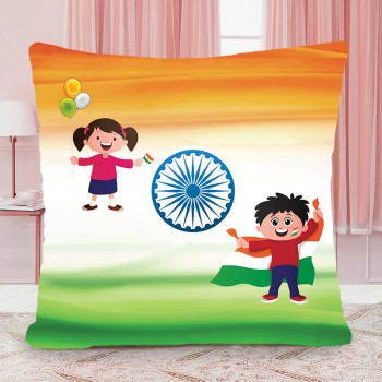 Happy Independence Day Printed Cushion
