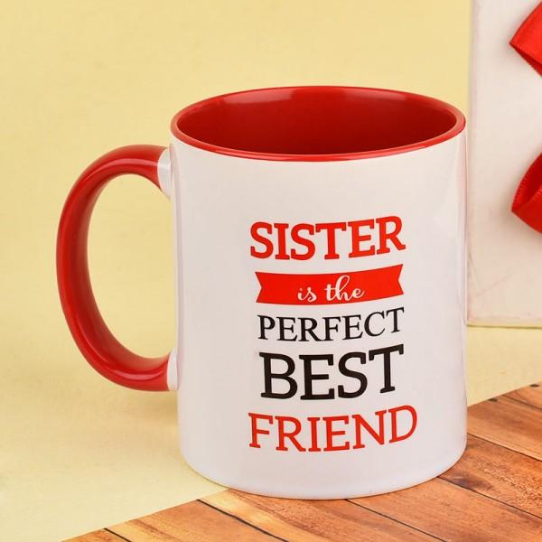 Perfect Best Friend Mug for Sister on Rakhi