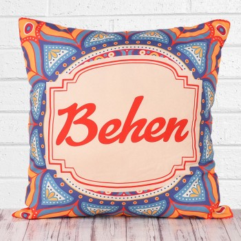 Traditional Design Printed Cushion for Behen