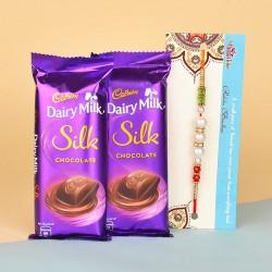 Pearl Rakhi N Dairy Milk Silk Chocolates