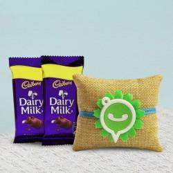 Whatsapp Rakhi N Dairy Milk Chocolates