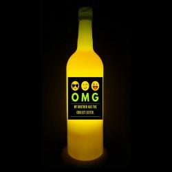 Yellow OMG Rakhi Lamp for Sister