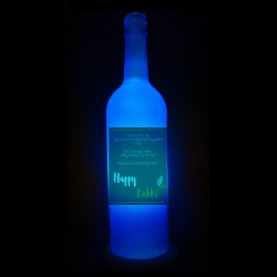 Blue Raksha Bandhan Bottle Lamp for Brother