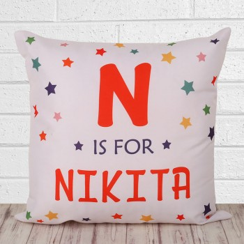 One Personalised Name Cushion